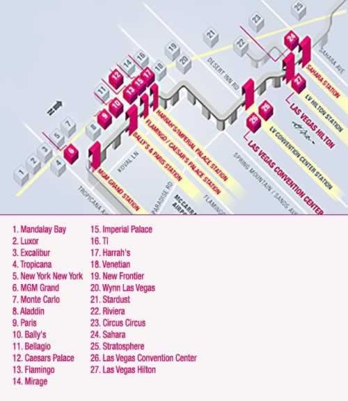 las vegas strip map of hotels. map of las vegas strip hotels